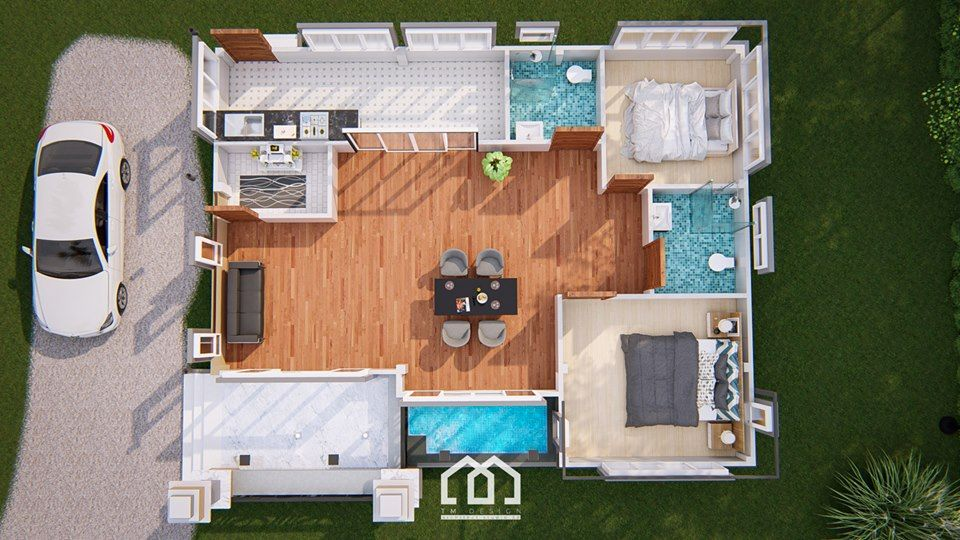 10 Contemporary House Designs With Floor Plan Perfect For Modern Family Bungalow House Design Contemporary House Design House Design