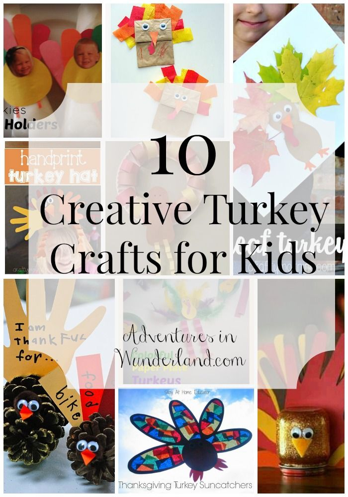 10 Creative Turkey Crafts for Kids Turkey craft, Thanksgiving and - halloween decorations for kids to make
