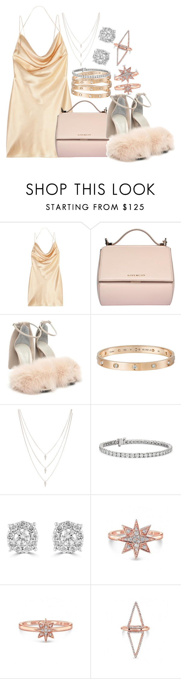 """""""Saint Laurent, Givenchy and Cartier"""" by camrzkn ❤ liked on Polyvore featuring Yves Saint Laurent, Givenchy, Alexander Wang, Cartier, Melanie Auld, Blue Nile and Effy Jewelry"""