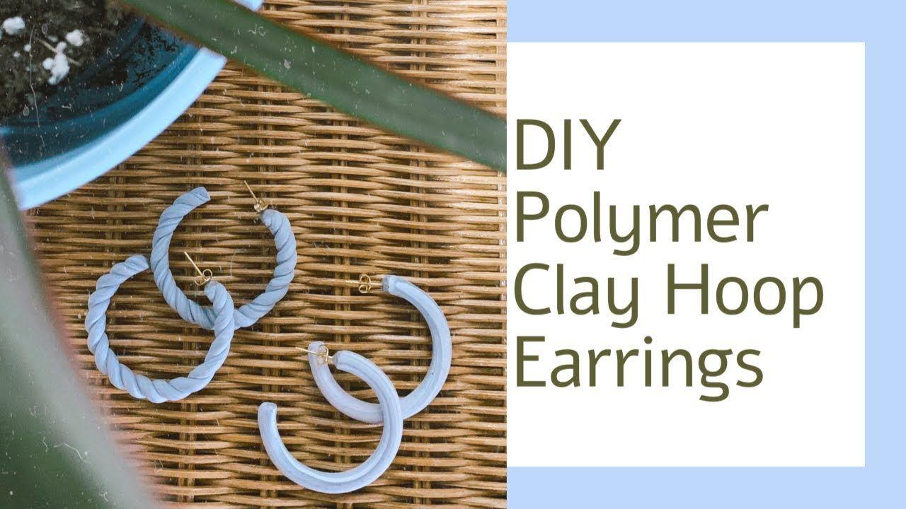 Photo of DIY Polymer Clay Hoop Earrings Tutorial – 2 Styles   How To Make Handmade Earrings