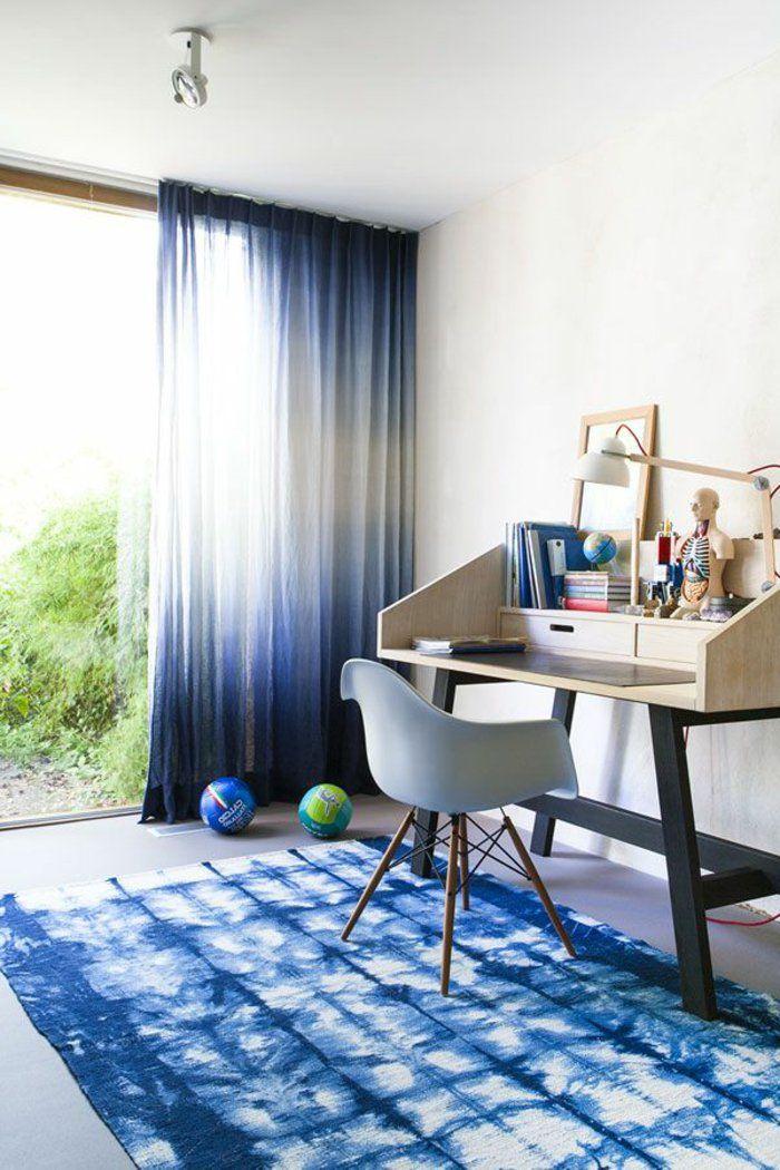 les 25 meilleures id es de la cat gorie voilage bleu sur pinterest id e d co voilage salon. Black Bedroom Furniture Sets. Home Design Ideas