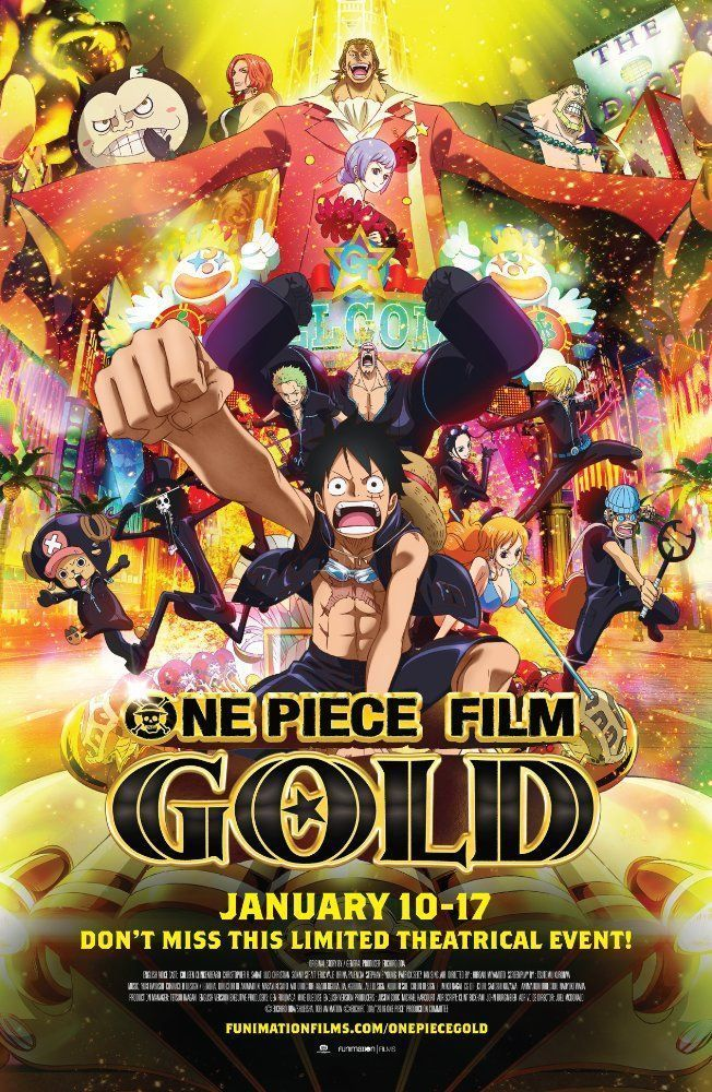 Download One Piece Film Gold 2016 Free Movie Rate 7 7 10 Total 1 306 Votes Genre Animation Action Adventure Fantasy Relea Anime Reiche Manner Filme