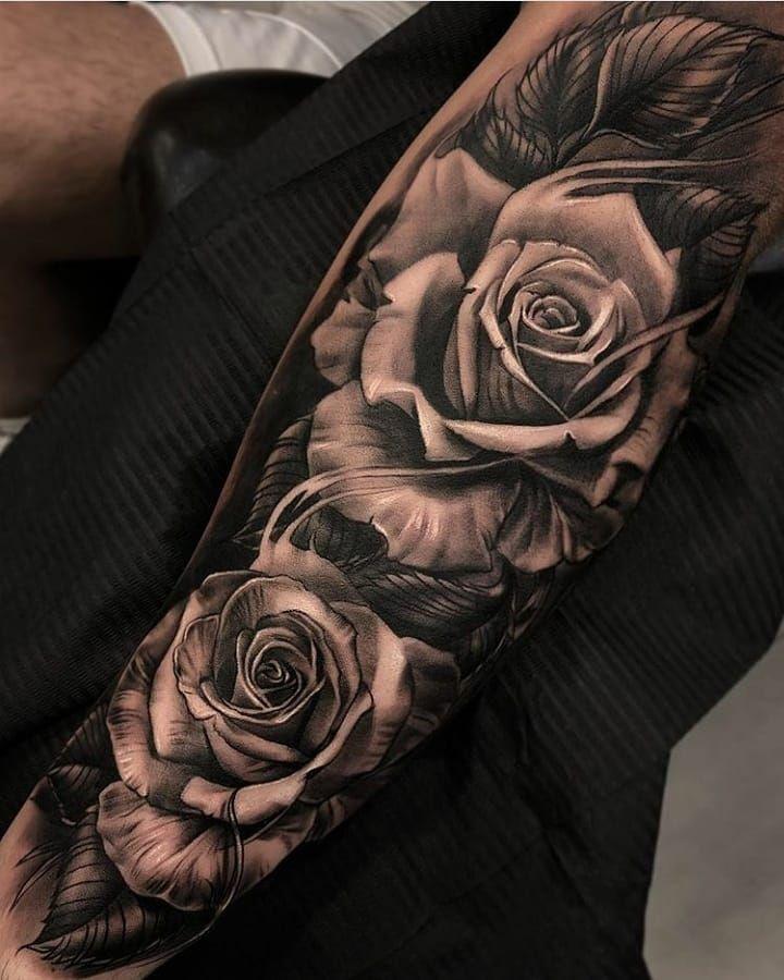 Pin De Andres Zuluaga En Tatuajes Tatuajes De Rosas Para Hombres