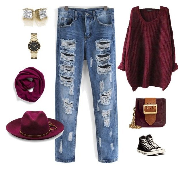 """""""Casual Friday"""" by kim-greene ❤ liked on Polyvore featuring Converse, Burberry, Marc by Marc Jacobs, Halogen and Sensi Studio"""