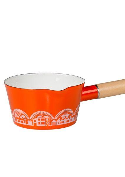 Image of Enamelware Saucepan - Tangerine Dream