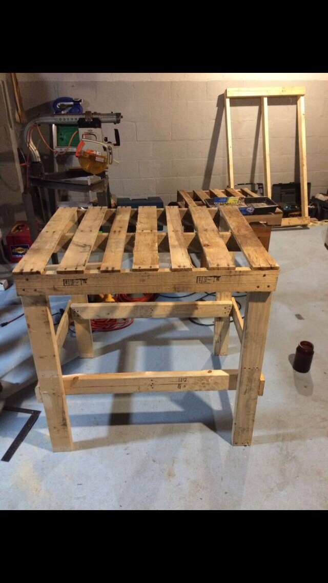 Wood Pallet Planting Bench