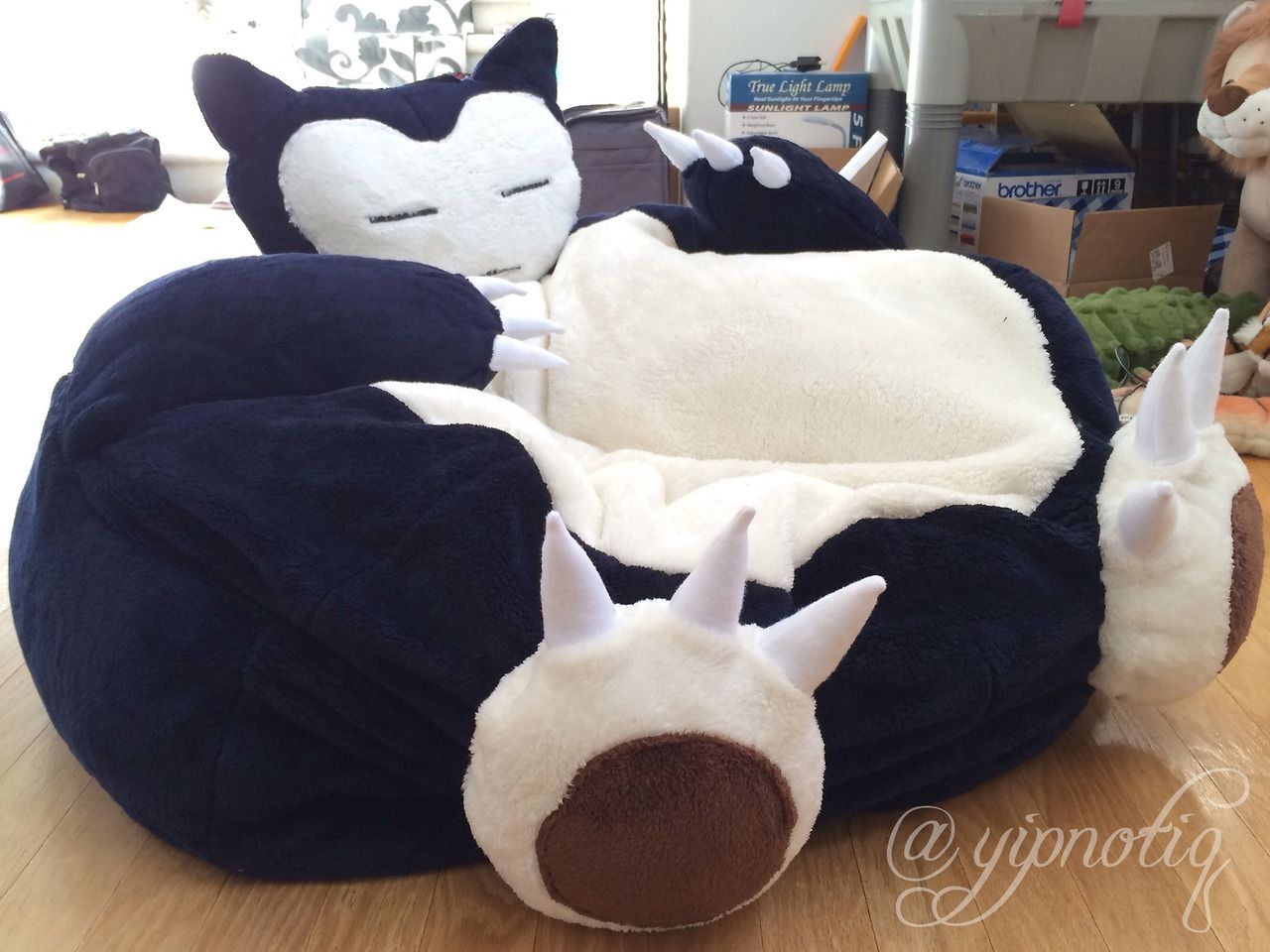 Snorlax Bean Bag Chair Clear Dining Chairs Uk Bed Pkmn Some Things Pinterest