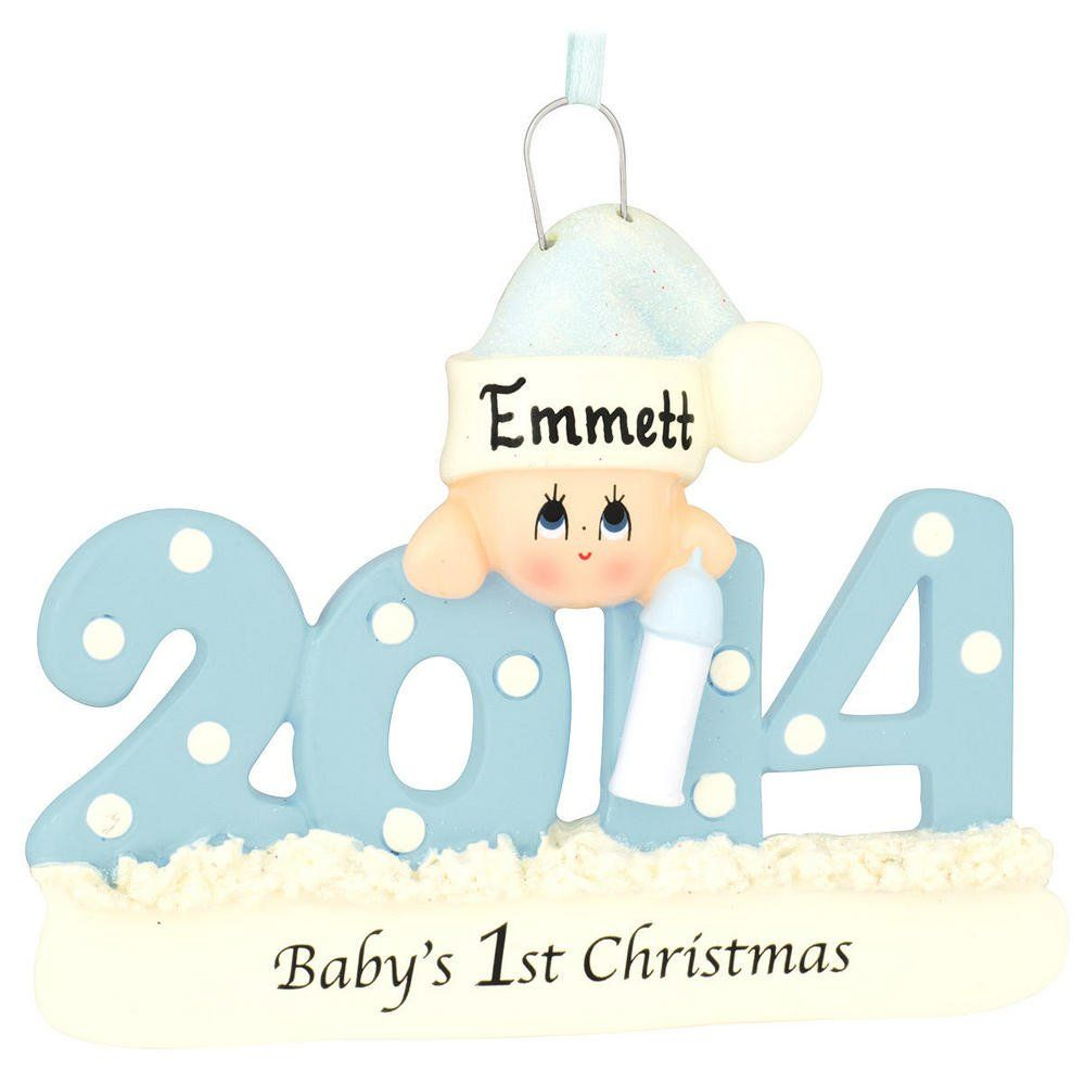 2014 Baby Boy First Christmas Ornament - can be ...