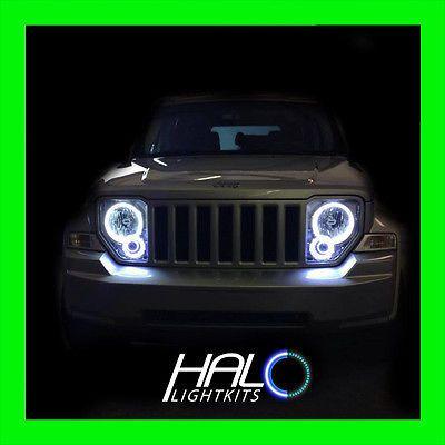 2008 2013 Jeep Liberty White Plasma Light Headlight Halo Kit By