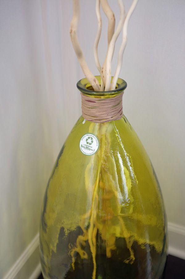 Recycled Glass Floor Vases Glass Floor Vase Large Glass