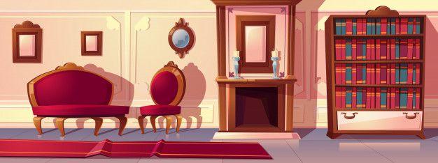 Descarga Gratis Ilustracion De Dibujos Animados De La Sala De