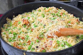 Savory Experiments: Pea and Bacon Risotto