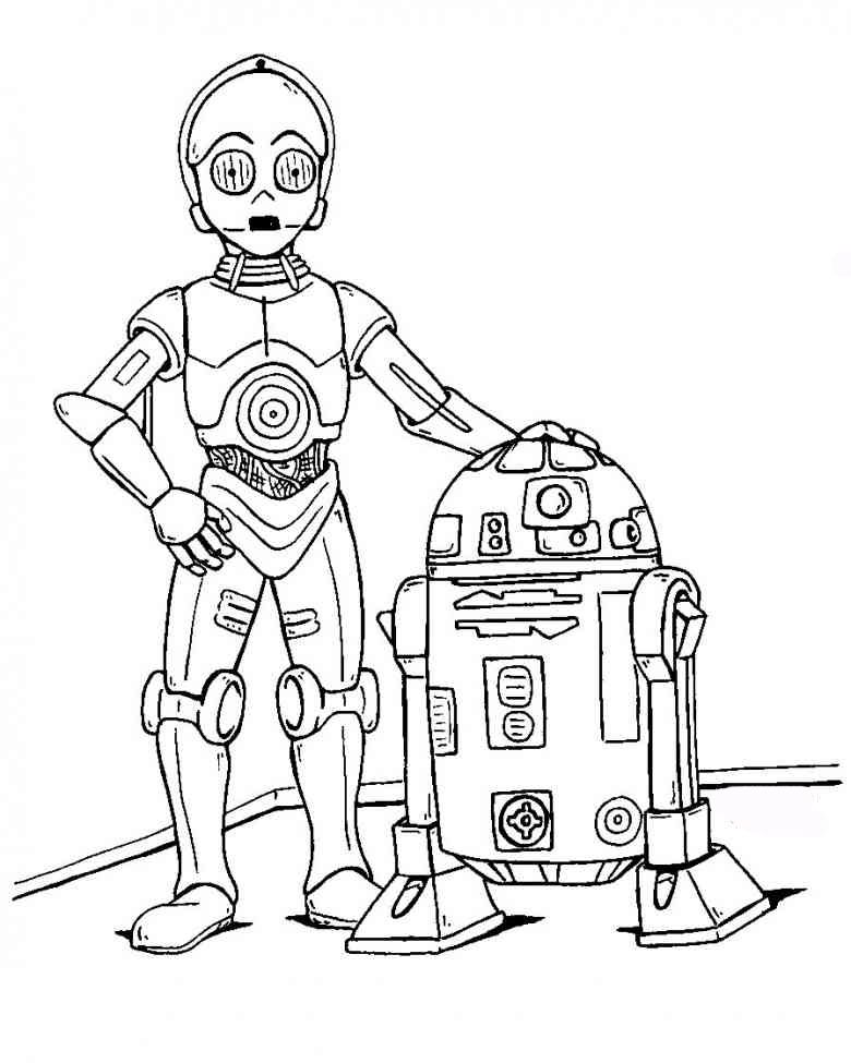 Star Wars Ausmalbilder Ausmalbilder R2d2 Drawing
