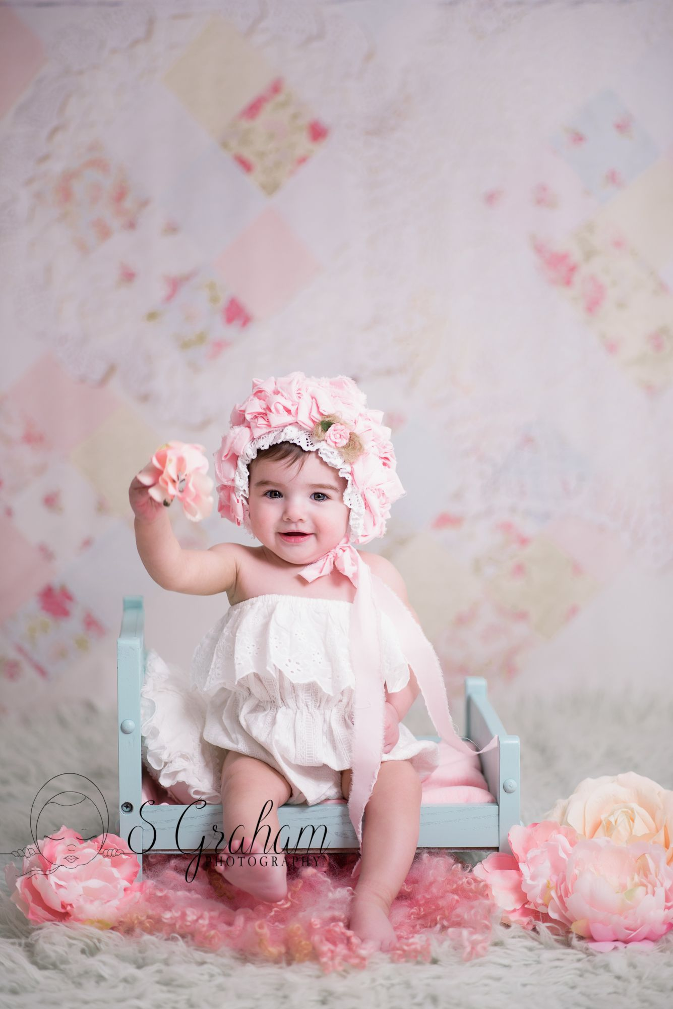 Baby girl portrait professional newborn photography baby photographer central ma worcester ma leominster ma