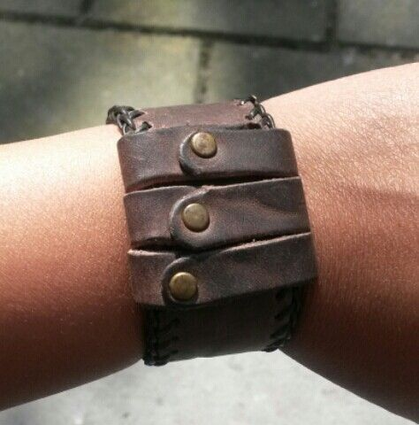 Leather bracelet by esther derksen