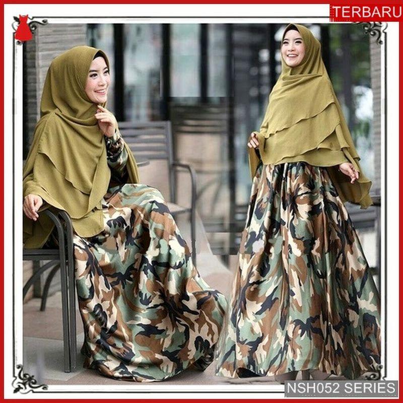 Nsh052g152 Gamis Elzatta Monalisa Army Bmgshop Grosir Fashion 99