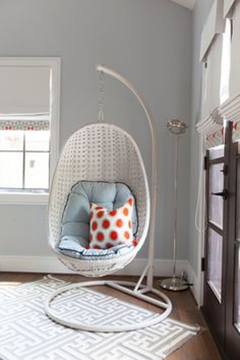 cool hanging swing chair with stand for indoor decor home ideas