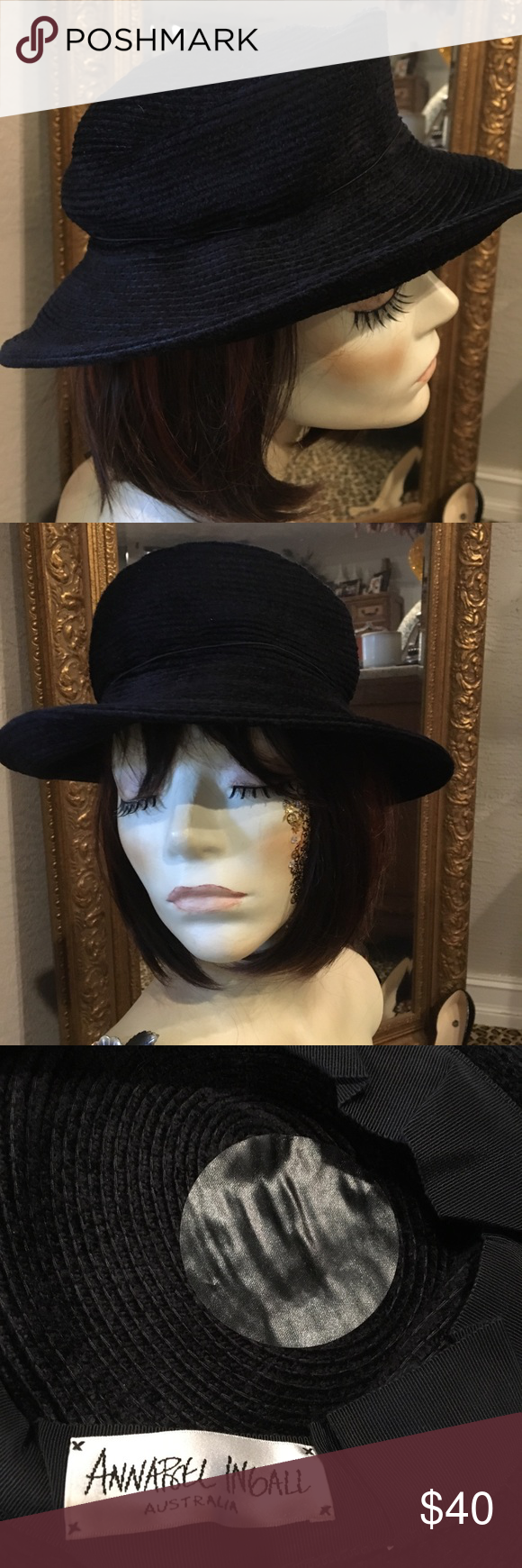 Annabelle Ingall Black Hat Hats Black Hat Women Shopping