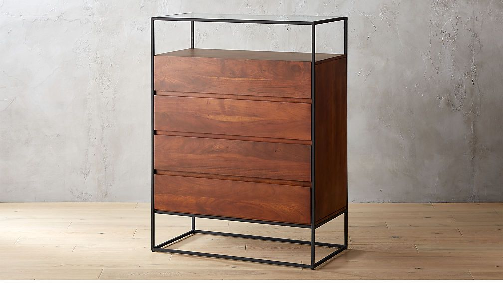 Crawford Tall Glass Top Chest in 2019 | Glass shelves ...