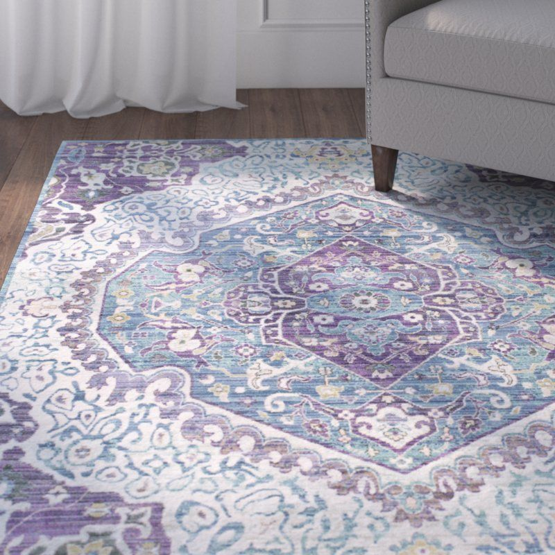 Altus Oriental Area Rug With Images Blue Area Rugs Purple