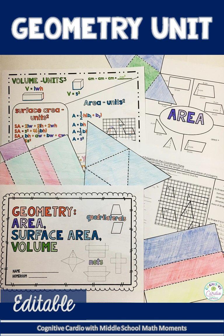 6th Grade Math Geometry Unit - Area, Surface Area, Volume ...