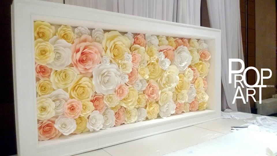 wedding paper flowers wall | Paper backdrop | Pinterest | Flowers ...
