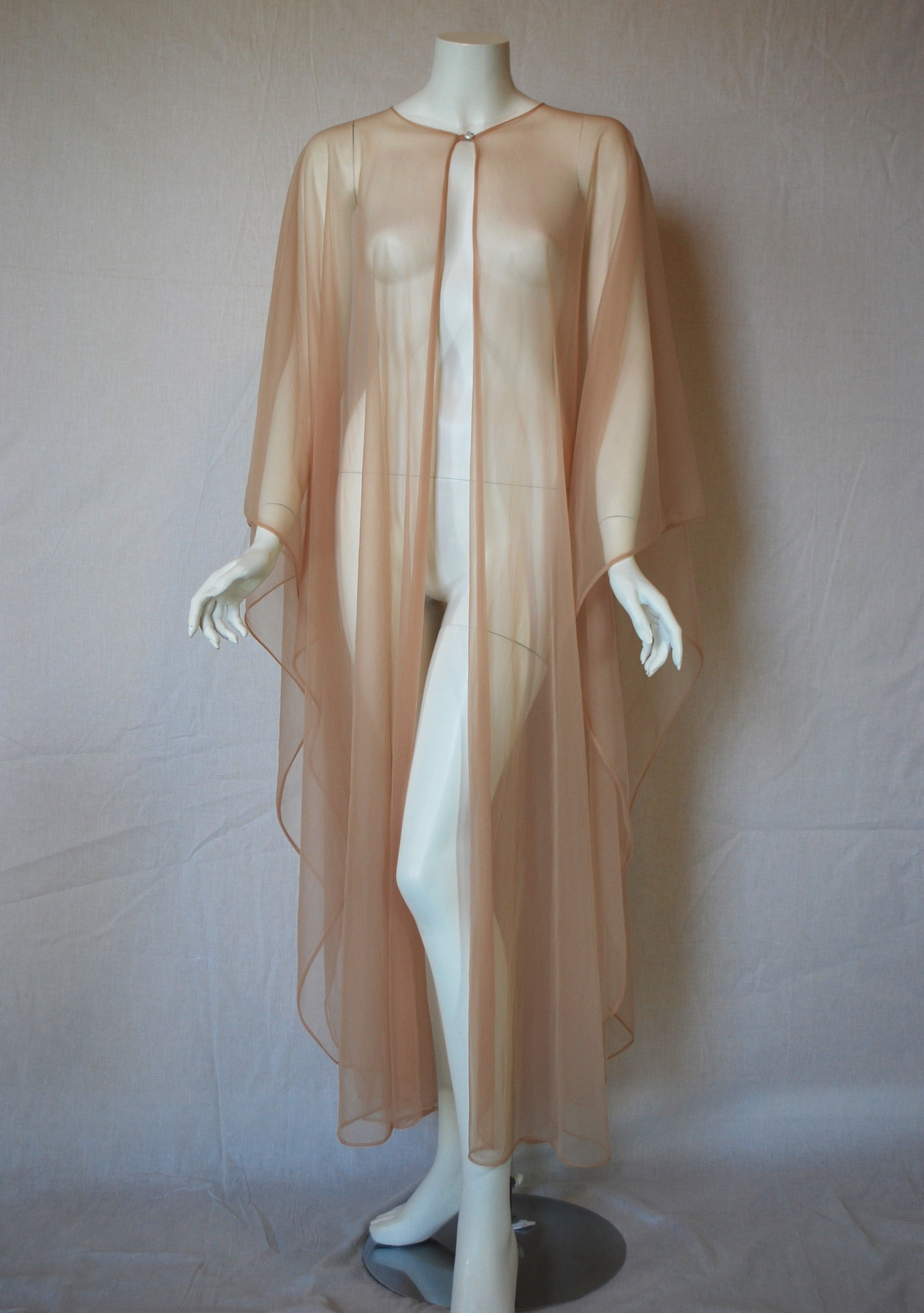 5ec8907935e Vintage Nude Nylon Sheer Cape