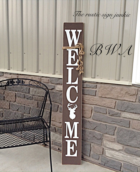 Porch Welcome Sign Hunting Sign Deer By Therusticsignjunkie Deer Hunting Decor Hunting Decor Rustic Hunting Decor