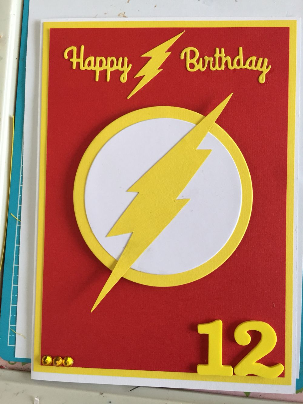 The flash birthday card cards pinterest cards card ideas and the flash birthday card m4hsunfo
