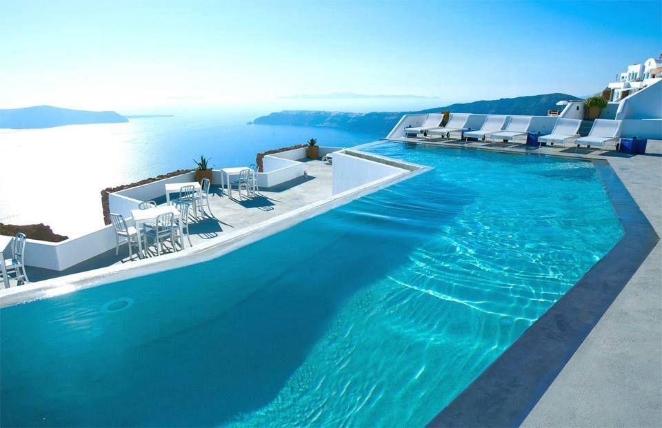 Balcony in Santorini Island, Hellas