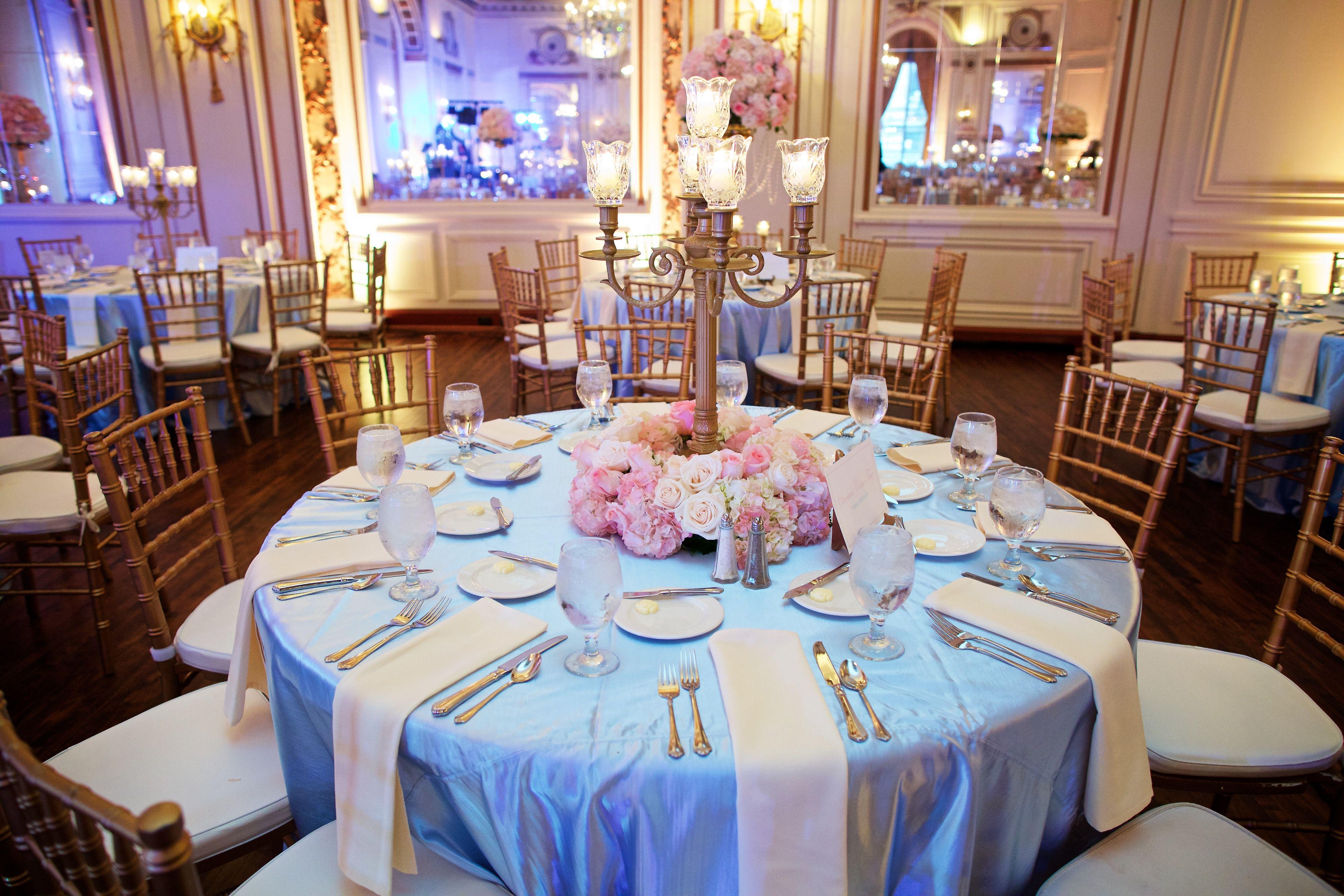 Cinderella themed wedding floral arrangement