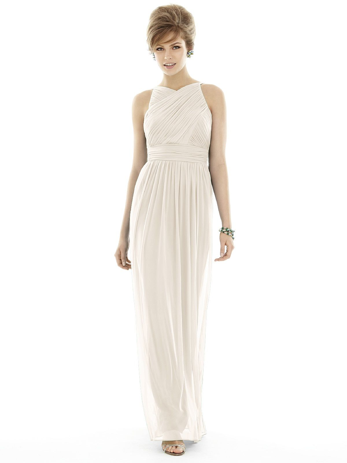 Alfred sung d692 bridesmaid dress weddington way white out shop alfred sung final sale sample sale in chiffon knit at weddington way find the perfect made to order bridesmaid dresses for your bridal party in your ombrellifo Gallery