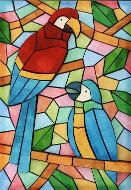 Abstract Paper Mosaic Art