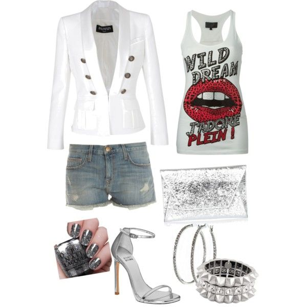 Created by Deranged Diva A fashion look from January 2015 featuring Balmain blazers, Current/Elliott shorts and Philipp Plein. Browse and shop related looks.