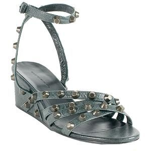 Prezzo del 50% più vicino a 100% originale Balenciaga Leather Studded Wedges - Size 9.5 / 40 | Leather, Low ...