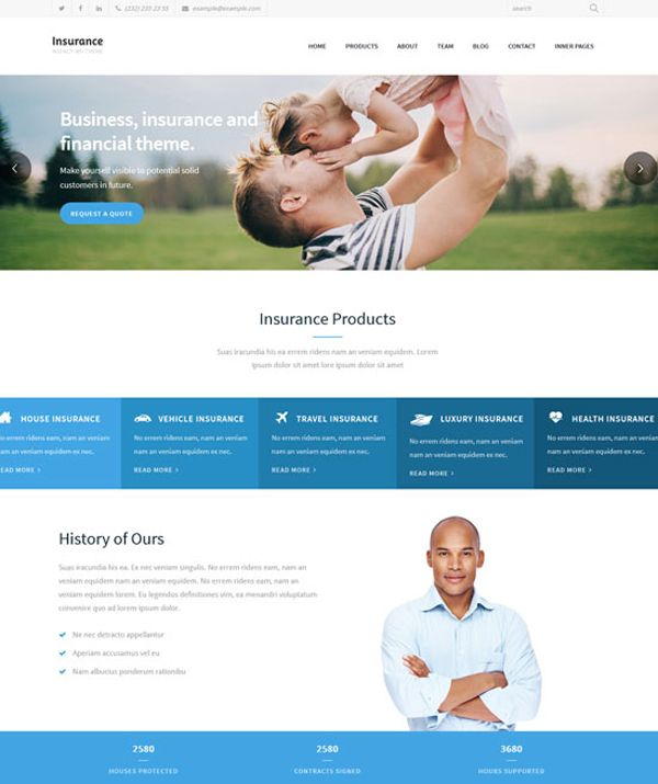 16+ Best Insurance Company Responsive WordPress Themes | SMO Voters ...