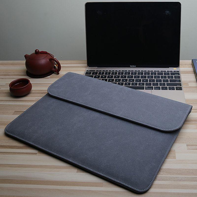 Goedkope Laptop Sleeve Bag Voor Macbook Air Retina 13 12 15 Nieuwe Pro 13 3 Inch 2018 Touch Bar Pu Leather Case Voor Xi Macbook Air Sleeve Buying Laptop Laptop