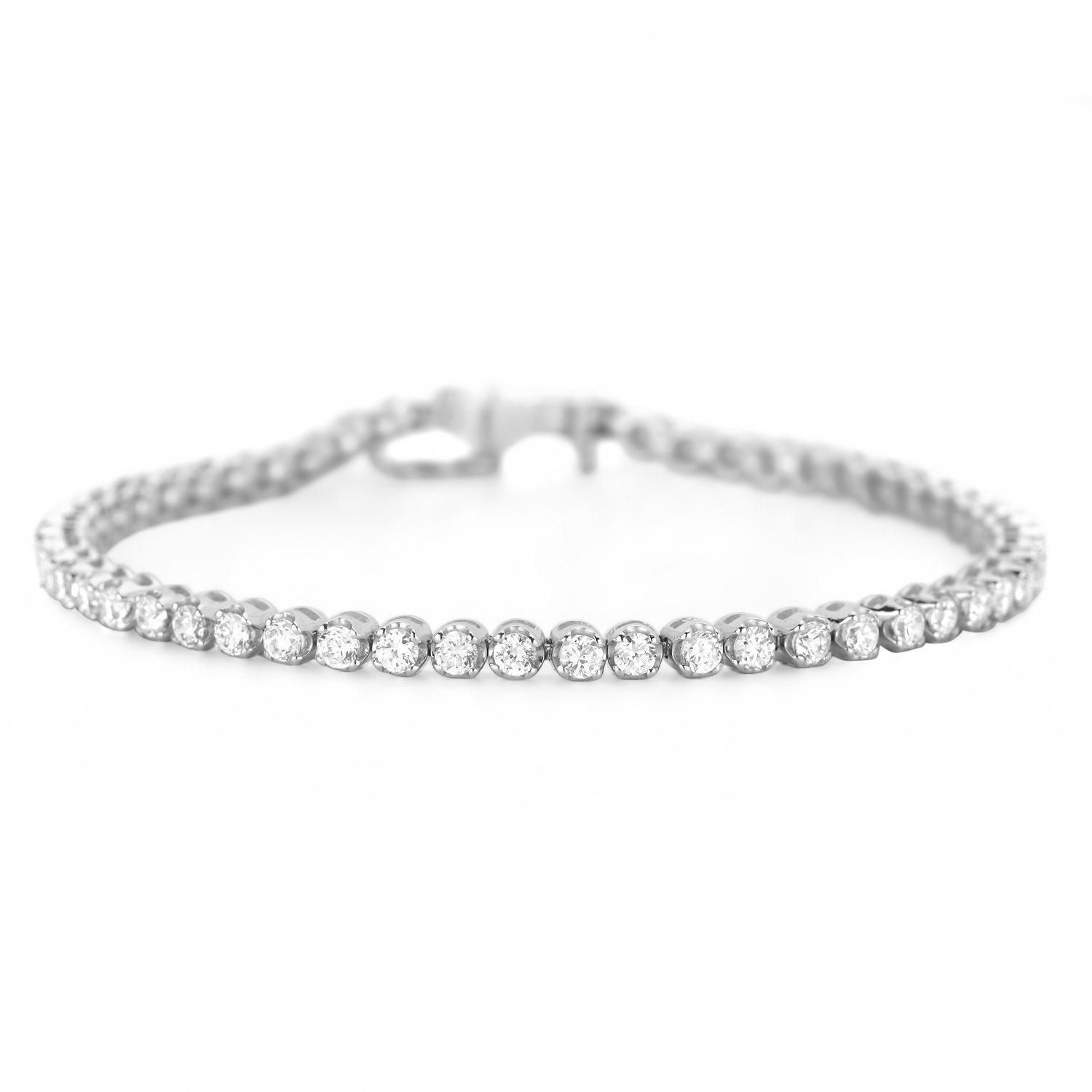 Diamond Tennis Bracelet Simple And Elegant Diamondtennisbracelet Tennisbracelets Silver Diamond Bracelet Mens Bracelet Silver Jewelry Bracelets Gold