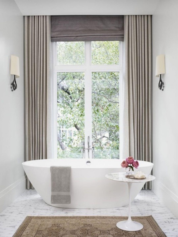 Bathroom Window Treatments, Large Bathroom Window Treatment Ideas