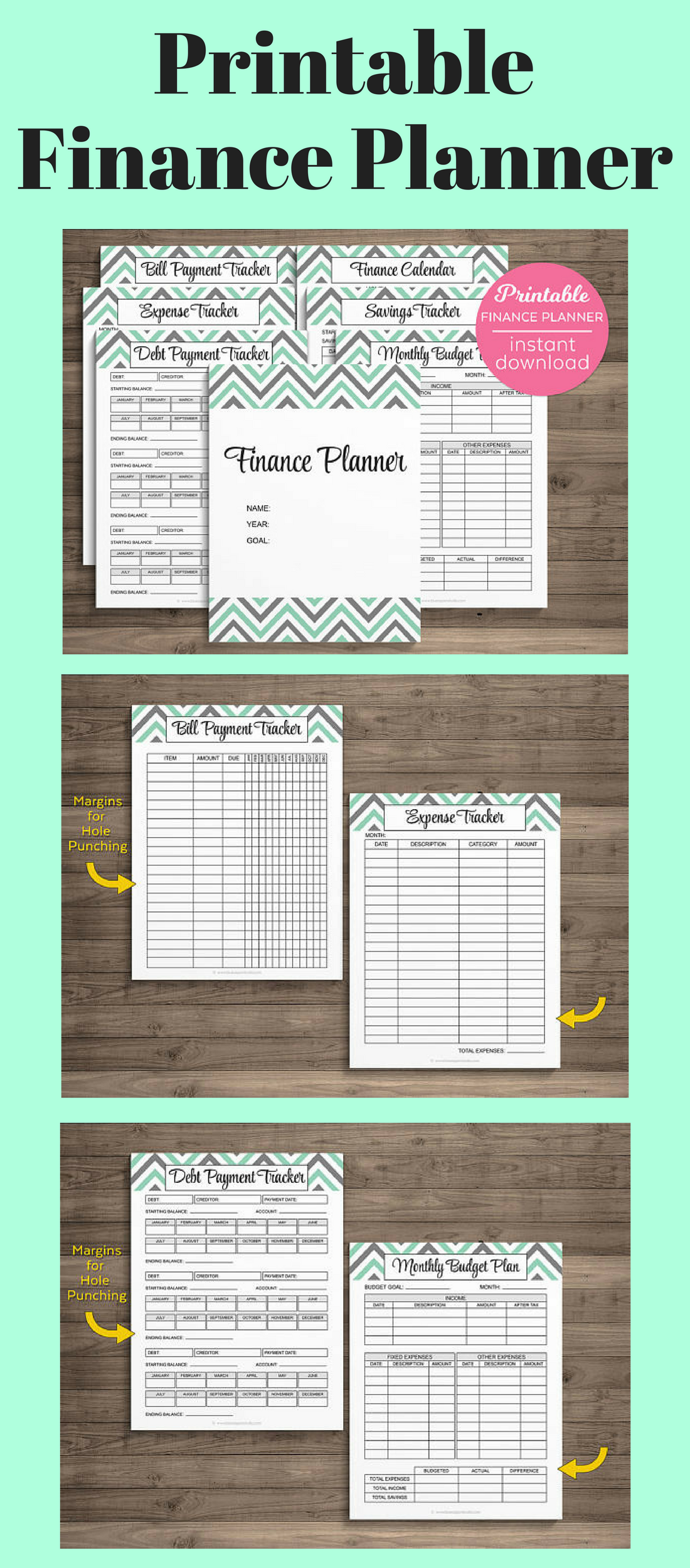 These Downloadable Printable Financial Planners Are All I