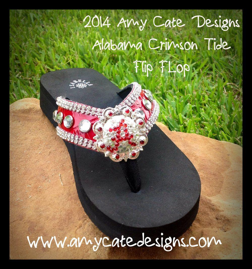 e7e49a76f06c42 Amy Cate Designs - 2014 Alabama Crimson Tide Raiders Flip Flops