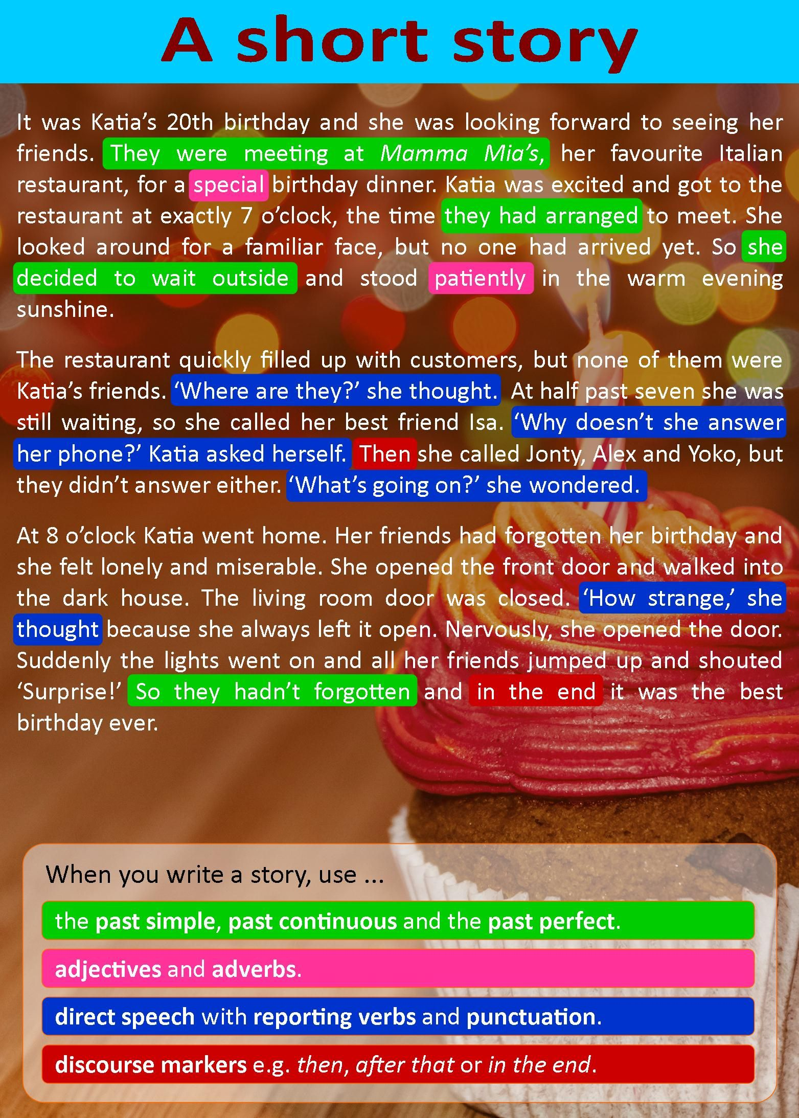 My 4th Junior High English Class A Short Story To Improve