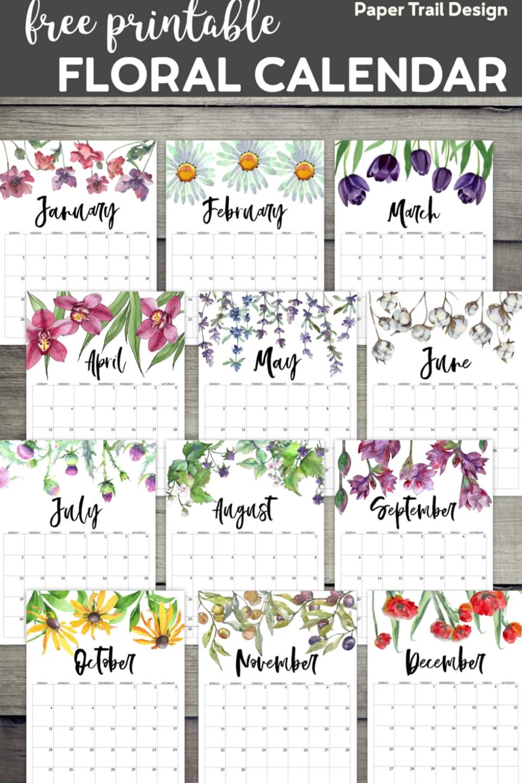 Printable Calendar 2021 January 2021 December 2021 | Etsy in 2020