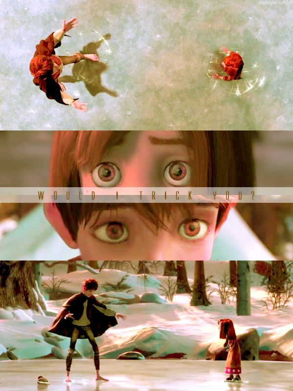Jack and his sister on the ice. #rotg #riseoftheguardians
