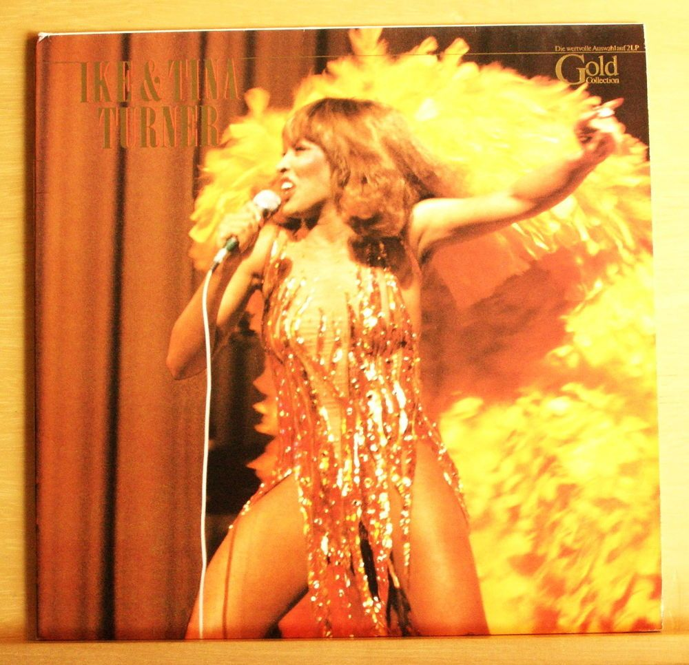 IKE & TINA TURNER Gold Collection Vinyl 2-LP Nutbush City Limits Proud Mary RARE