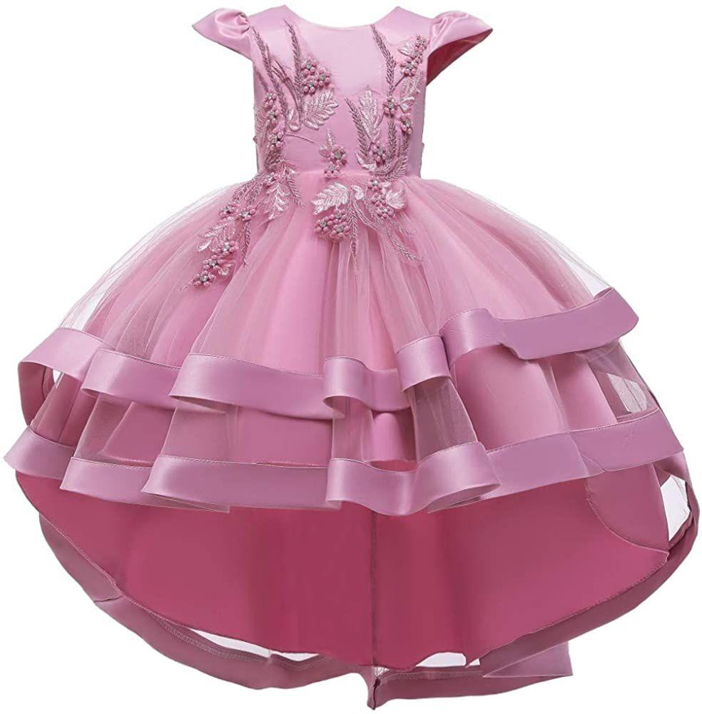 Amazon Com Myrisam Girls Princess Pageant High Low Tulle Dress Bridesmaid Wedding Prom Birthday Commun In 2021 Girls Ball Gown Girls Formal Dresses Girls Maxi Dresses [ 1000 x 984 Pixel ]