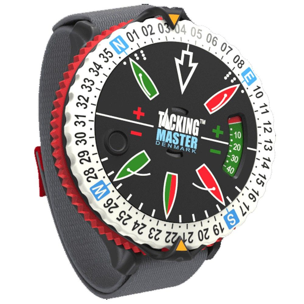 Not sure which way to go? The TackingMaster is here to help you sail smarter. Use this wrist band dial ring with any compass to help visualize wind shifts and trends while racing. By adding an overview and visual experience to the racecourse, the TackingMaster makes complex tactics more tangible. By adjusting the wind dial based on the shifts, the TackingMaster gives you the ability to see how your angles are changing right on your wrist allowing you to stay on the lifted tack. Whether…