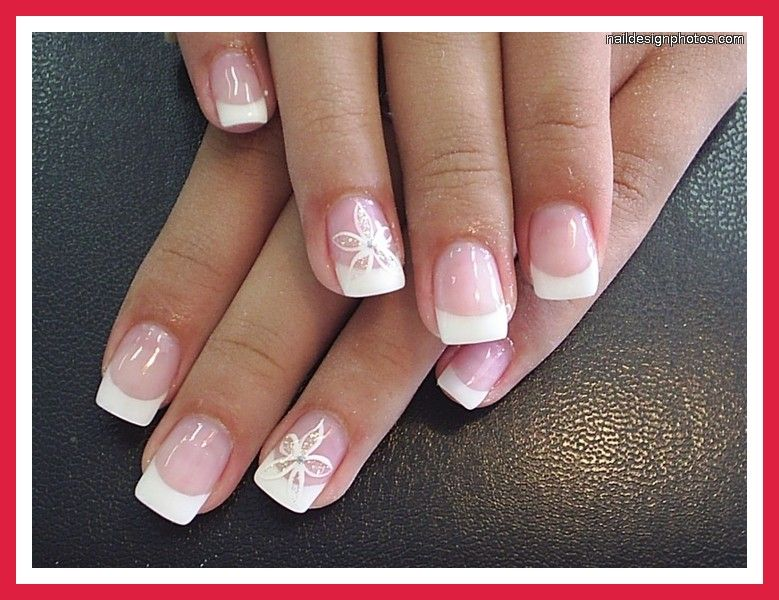 Fingernail Design White Tips