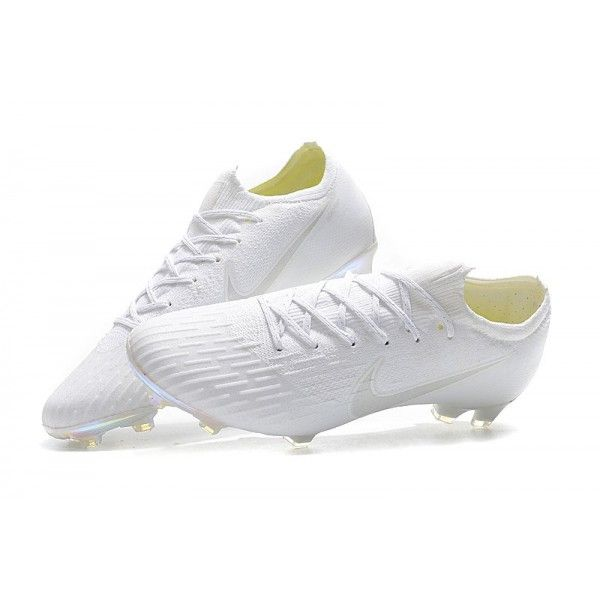 1e0bb57ccfba Nike Mercurial Vapor XII Elite FG Firm Ground Cleats - All White ...