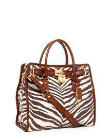 3ecc14568bad Michael Kors Hamilton Large Whipped North South Tote, Tiger-Print -  muuuuuuuust have!